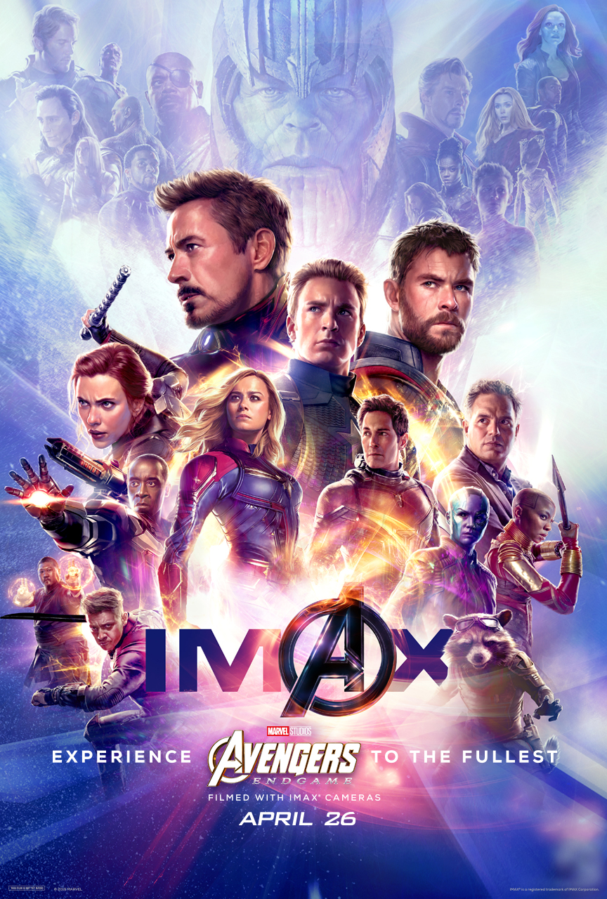 Poster IMAX Avengers End Game