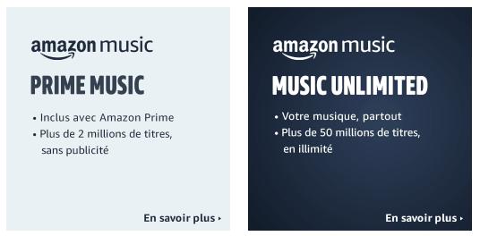 Abonnements Amazon Music