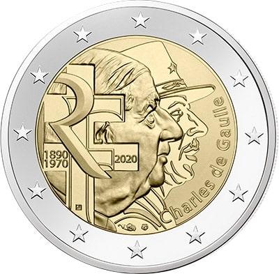 2 euros Charles de Gaulle