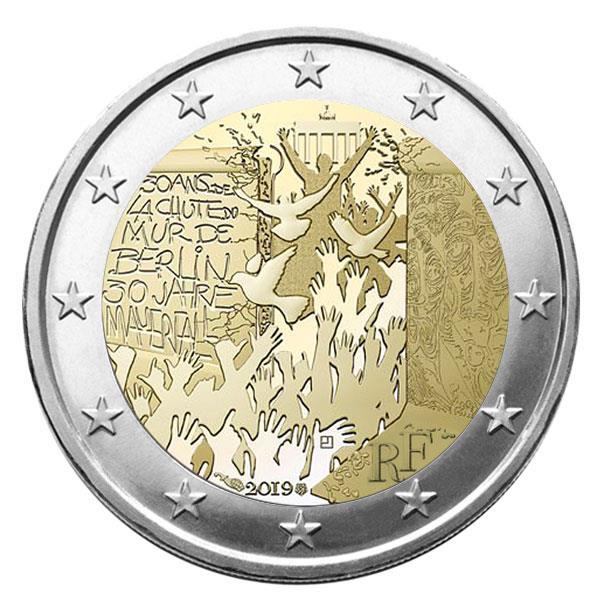 2 euros Mur de Berlin