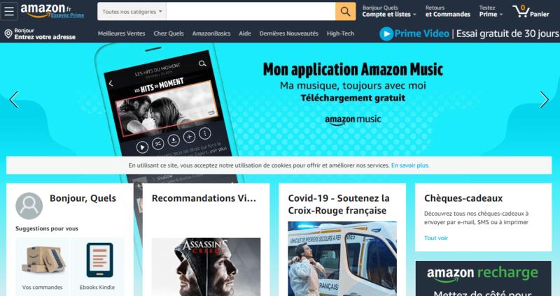 Accueil Amazon