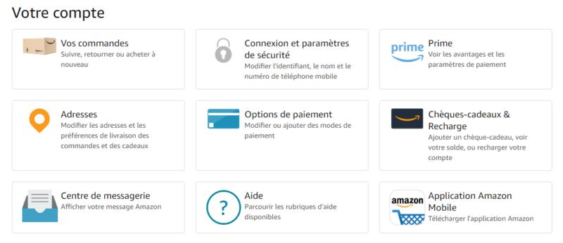 Espace client Amazon
