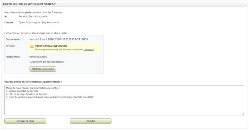 Mail Amazon service client