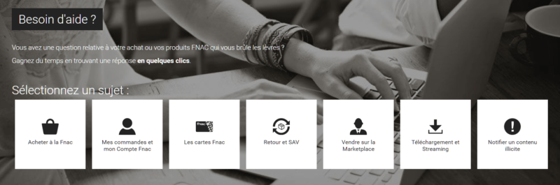Page contact Fnac