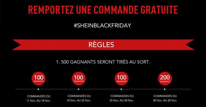 Commande gratuite SHEIN