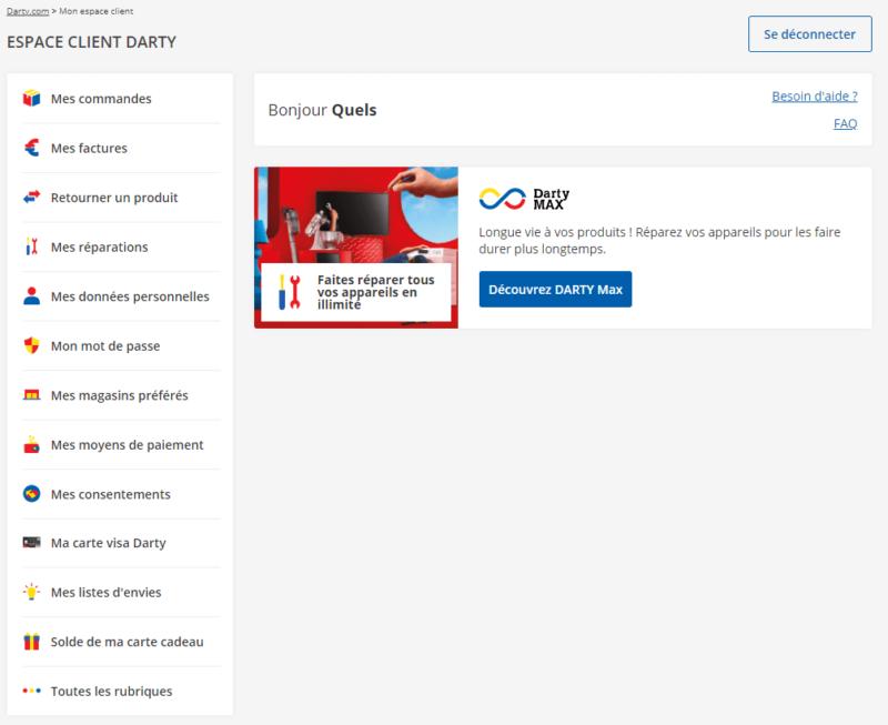 Espace Client Darty